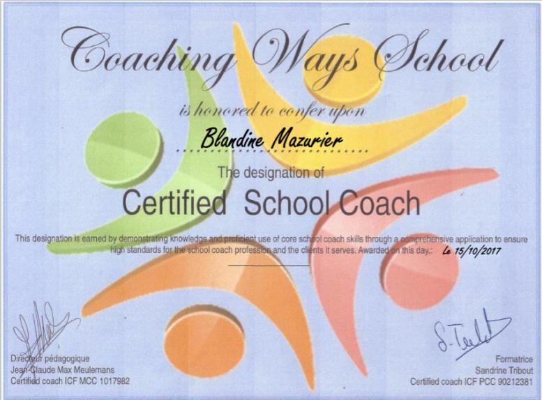 Certificat CS8 Bxl Blandine Mazurier