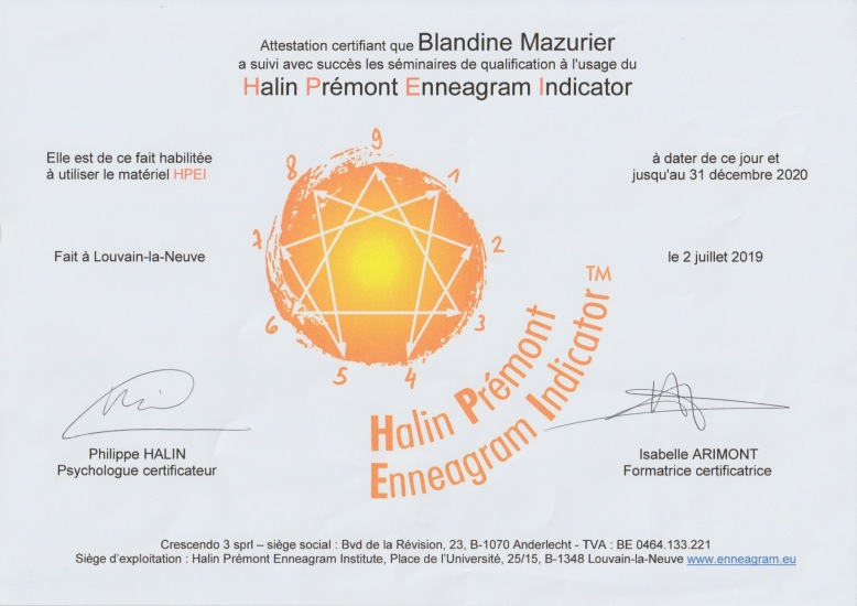 certification_ENNEAGRAMME_BMAZURIER
