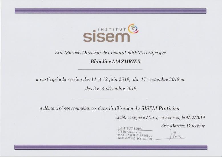 certification_SISEM_BLANDINEMAZURIER
